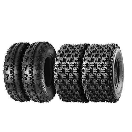 Set of 4 MaxAuto Sport ATV Tires 21x7-10 Front & 20x10-9 Rear 4PR 21x7x10 & 20x10x9 quad tires ATV UTV Tires