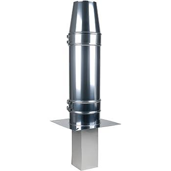 210 mm MK sp Z o.o Edelstahl Schornstein /ø 150 mm Pr/üf/öffnung Edelstahl gl/änzend Keine Farbe w/ählbar