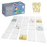 Lúdilo- Memo Yogi ninos Cartas, juguemos a Hacer Familia, Juego Yoga para niños, Color Azul (YF-003)
