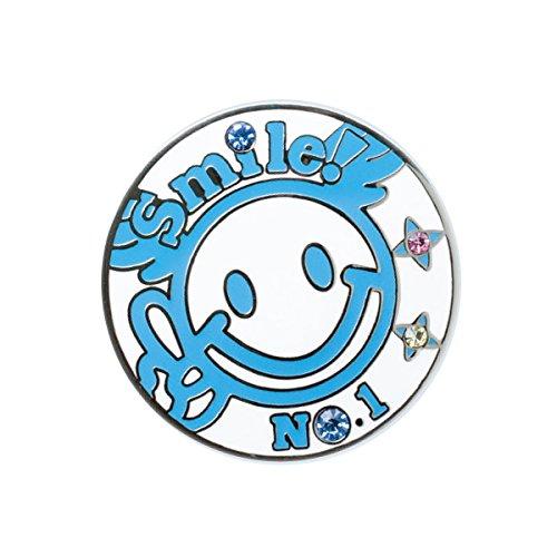 WINWIN STYLE(ウィンウィンスタイル) メガマーカー SMILE No.1 SMILE No.1 MM-308 ユニセックス MM-308 ブルー デザイン:型打ち製法(七宝仕上げ)/クリスタルストーン入り