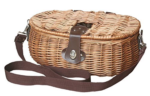 Uppercrust Red Hamper Fishing Tackle Creel Basket