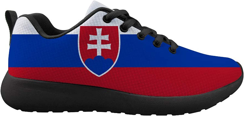 Owaheson Cushioning Sneaker Trail Running shoes Mens Womens Slovakia Flag