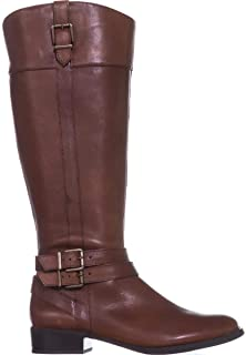 INC International Concepts Womens Frankii Leather Almond Toe, Cognac, Size 5.5