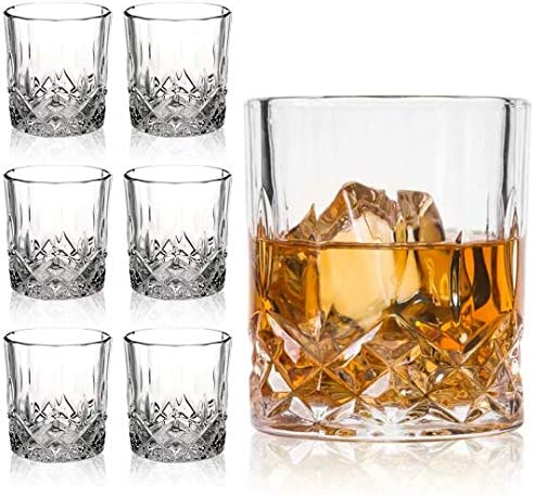 Farielyn X Crystal Old Fashioned Whiskey Glasses Set of 6 11 Oz Unique Bourbon Glass Ultra Clarity product image