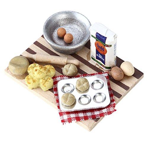 NUOLUX 1:12 Dollhouse Miniature Kitchen Mini Furniture Model Pastry Station Toy