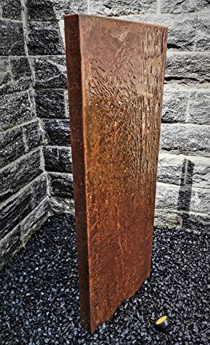 Jürgen Bocker Gartenambiente Wasserwand 'Husum', Cortenstahl, LED-Beleuchtung, Pumpe, PE-Becken, GFK-Abdeckung 180 x 50 x 60 cm