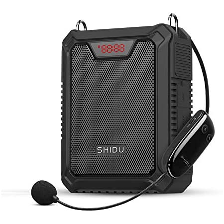 Amplificador de voz Bluetooth, sistema de PA recargable de 25W con auriculares inalámbricos Micrófono Altavoz portátil a prueba de agua Banco de ...
