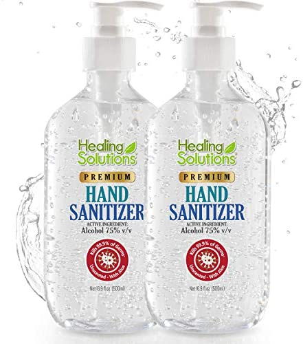 Hand Sanitizer Gel 2 Pack x 16 9oz 75 Alcohol Kills 99 99 of Germs Scent Free Antibacterial product image