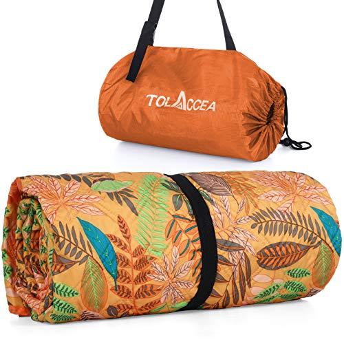Doppelseitige wasserdichte Picknickdecke, 3-lagige Tragbare Campingdecke, 200x145cm Maschinenwaschbare Stranddecke mit Aufbewahrungstasche, für Picknicks, Camping, Strand