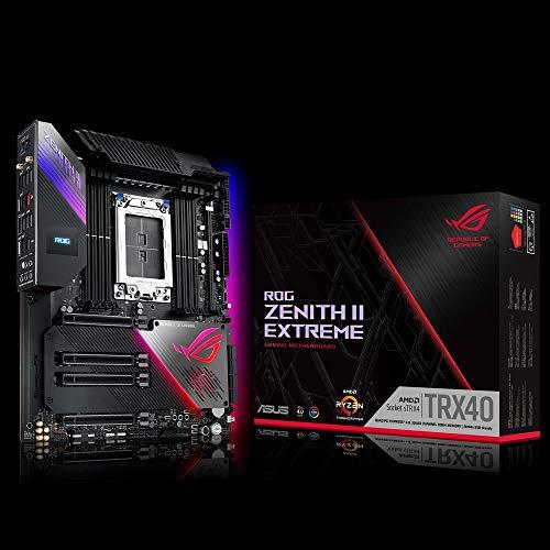 ASUS ROG Zenith II Extreme Gaming Mainboard Sockel AMD sTRX4 (TRX40, E-ATX, PCIe 4.0, Wi-Fi 6, 5x M.2, Aura Sync)