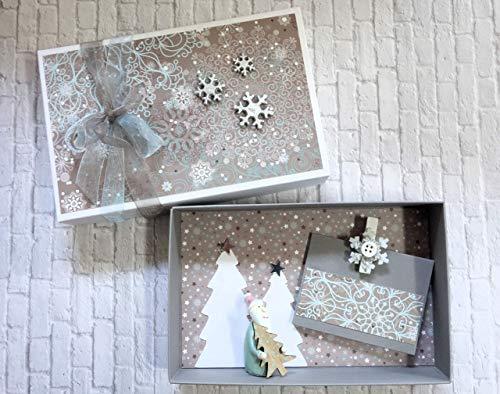 Geldgeschenk Geschenk Verpackung zu Weihnachten Geschenkschachtel Gutscheinverpackung