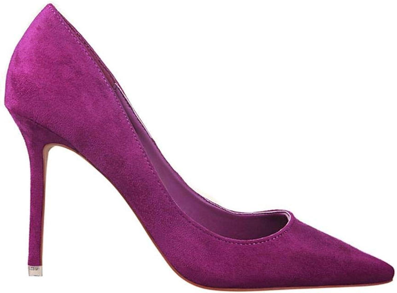 Women Pump Faux Suede Basic Sandals Solid colors Slip On High Heels 10CM Sandals Femme Sexy Pumps