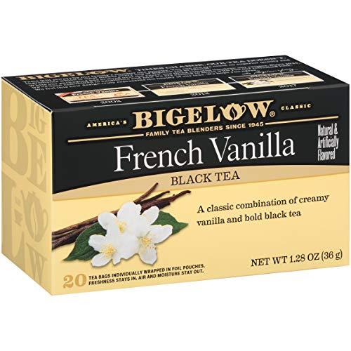 Bigelow French Vanilla Black Tea Bags, 20 Count Box (Pack of 6), Caffeinated Black Tea, 120 Tea Bags Total