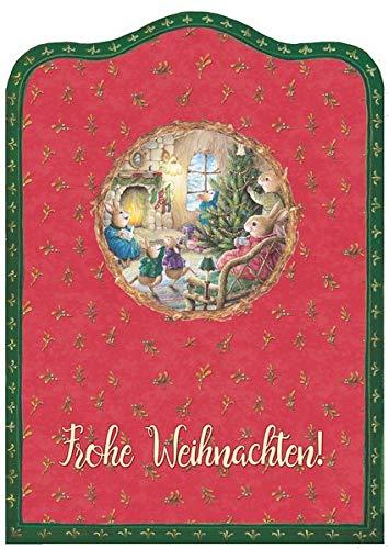 Frohe Weihnachten: Silhouettenkarte