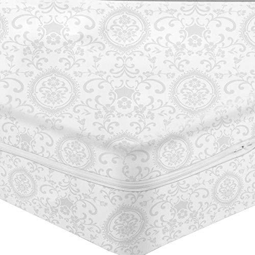 Fodera Coprimaterasso in Cotone Damasco con Cerniera - Dimensioni Varie S514 Matrimoniale