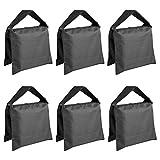 Neewer 6er-Pack Schwarze Fotografie-Sandsäcke, Gegengewicht für Lichtstative/Dreibeinstative