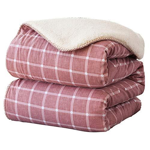 Chengzuoqing Kuscheldecke Flanell-Vlies Blanket Penta Leichte Cozy Plüsch Mikrofaser Bett Decke for Couch-Sofa-Bett Red Grau für Schlafsofa und Stuhl (Color : Red, Size : 150x200cm)