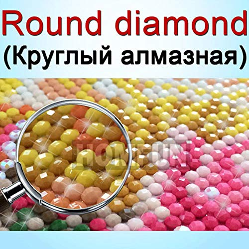 QINGCANG DIY Laser geschnittene Modellbau-Kits5D DIY Foto Custom Diamond Painting Bild von Strass Diamant Stickerei 3D Kreuzstich Home Hochzeit Dekoration...