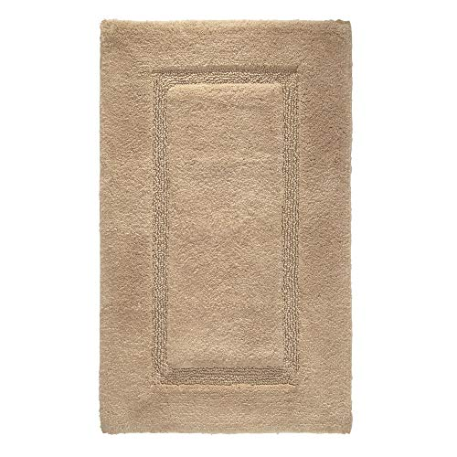 Price comparison product image iDesign Spa Bathroom Mat,  Rectangle-Shaped Small Rug Made of Cotton,  Beige,  53.3 cm x 86.4 cm