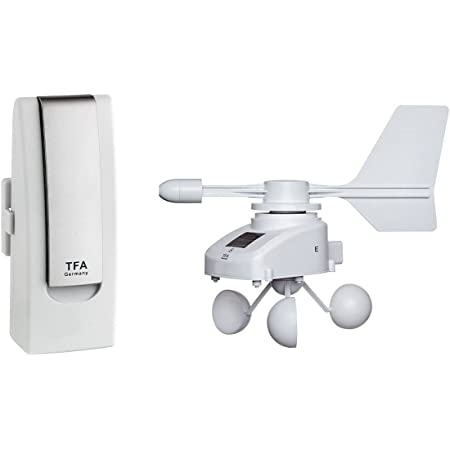 TFA Dostmann Weatherhub Weather Station Solar-Radio-Windemesser, SmartHome, vigilancia del clima y del hogar, monitoreo de teléfonos inteligentes