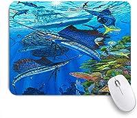 ECOMAOMI 可愛いマウスパッド バショウカジキ礁 滑り止めゴムバッキングマウスパッドノートブックコンピュータマウスマット