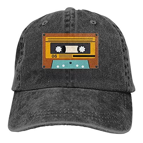 Leumius Vintage Icons 06 Audio Cassette Retro Baseball Cap Vintage Regolabile Papà Cappello Da Sole Nero