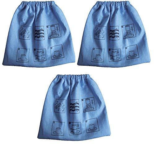 3 pcs Cloth Filter Bag for Armor All AA256 AA255 2.5 Gallon Shop VAC Microlined