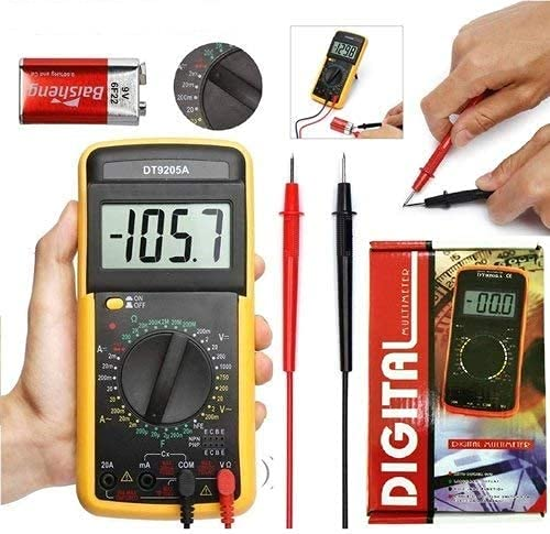 Price comparison product image Digital Multimeters Car Battery Circuit Multi Tester Voltmeter Ammeter Ohmmeter AC / DC Voltage DC Current Resistance Diodes Transistor Continuity Electrical Test Meter with Test Leads Backlight LCD
