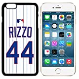 iPhone 6 New Case Cubs C. Home Jersey Baseball Fashion Grip Anti-Slip Protective Shock Resistant Durable PC TPU by Mr Case (Rizzo, iPhone 6, 6S)