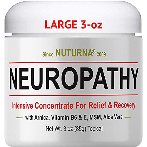 Neuropathy Nerve Pain Relief Cream - Maximum Strength Relief Cream for Feet, Hands, Legs, Toes Pain Reliever, Large 3 oz Ultra Strength Arnica, MSM, Menthol, Soothing, Fast-Acting Anti-Inflammatory