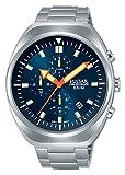 Pulsar Herren Chronograph Quarz Uhr mit Edelstahl Armband PM3085X1