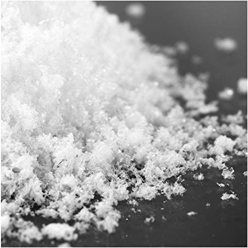 com-four® 2X 1 Liter Kristallschnee zum Dekorieren und Basteln - Kunstschnee als Weihnachtsdeko - Winter-Deko mit künstlichem Schnee (02 Stück - Kristallschnee fein/1l)