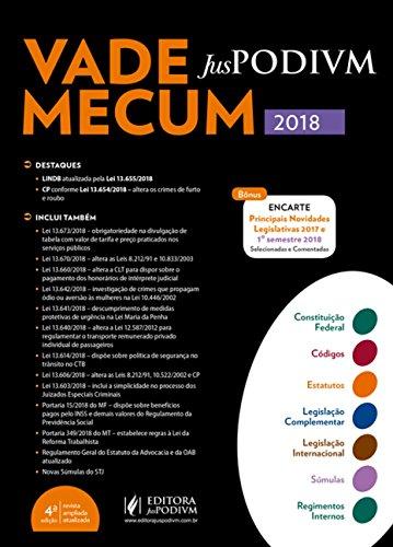 Vade Mecum Juspodivm 2018: Atualizado Até 25/06/2018