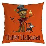 Pillow Case Cushion Covers,Halloween Creative Pumpkin Sofa Bed Home Decoration Festival Pillow Case Cushion Cover Leewos(H,45x45cm)