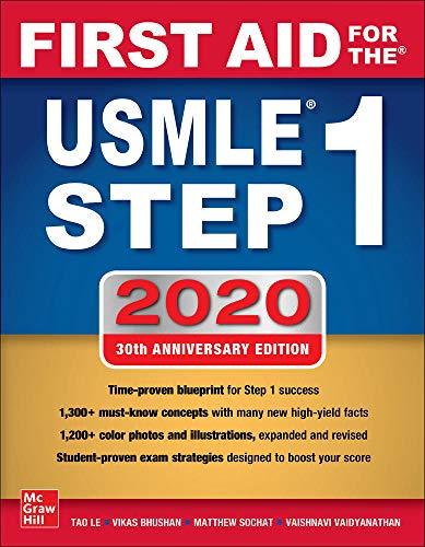 Compare Textbook Prices for First Aid For the USMLE Step 1 2020, Thirtieth Edition 30 Edition ISBN 9781260462043 by Le, Tao,Bhushan, Vikas