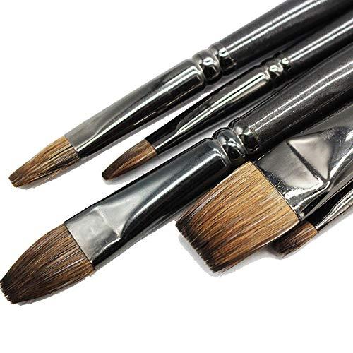 Professionelle Eichhörnchen-Haar-Malbürste , Ölgemälde-Kunstschule liefert Stift-flache Pinsel. Für Gouache-Malerei-Zeichnungssatz