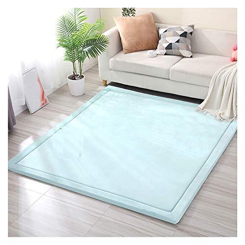 GYYARSX Teppiche Tatami-Matte Modern Bereich Dekorativer Teppich Wohnzimmer Schlafzimmer Sofa Kindergarten Anpassbare, 4 Farben (Color : Blue, Size : 2.0X1.5M)