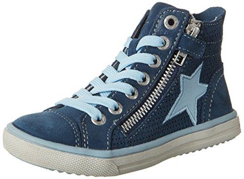 Lurchi Mädchen Saskia High-Top, Blau (Jeans), 31 EU