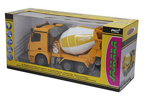 RC Auto kaufen LKW Bild 6: Jamara 404930 - Betonmischer Mercedes Arocs 1:20 2,4GHz – rechts / links drehende Mischtrommel mit Entladefunktion, realistischer Motorsound,Hupe,Rückfahrwarnsound,4 Radantrieb,gelbe LED Signallichter*