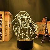 Anime Angel Beats 3D Illusionslampe Tachibana Kanade Figura LED Nachtlicht Charakter Schlafzimmer Dekoration Kinder Beleuchtung Geschenk 16 Farbe