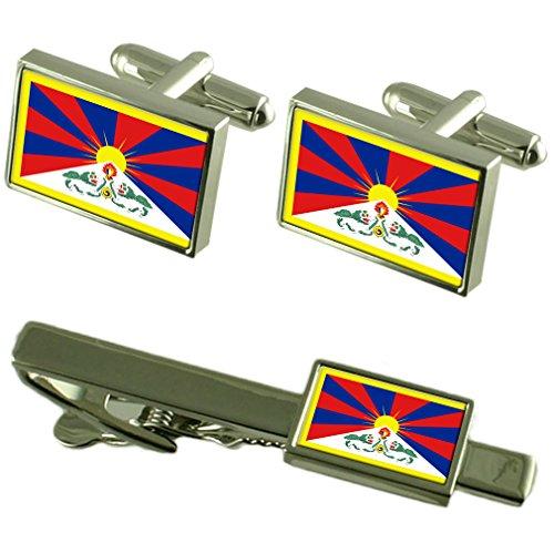 Select Gifts Tibet Fahne Manschettenknöpfe Krawatten passende Box Set