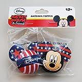 ディズニーアンテナボールUSA限定版(星条旗柄ミッキー)2種類のアンテナトッパーセットDisnet Mickey Pride Antenna Topper