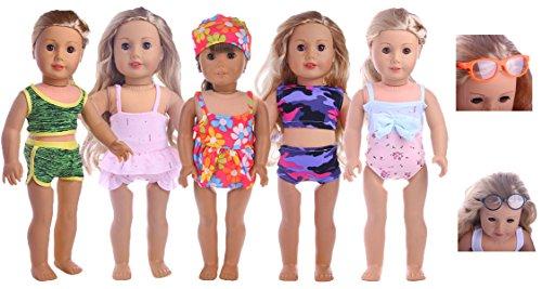 JELEUON Cute Baby Beautiful Pretty Summer Dark Blue Multi Layer Dresses Clothes for 16-18 inch American Girl Doll