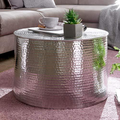 Wohnling RAHI Couchtisch, Aluminium, Silber, 61x40,5x61 cm