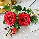 Aya611 Künstliche Parfüm Rosen gefälschte Blumen Seide Flores künstliche für Home Party Hochzeitsdekoration Babyshower Rose Red