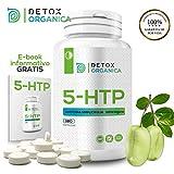 Detox Organica 5HTP 200 mg-180 Cápsulas de Alta Dosificación | 5-HTP Vegano de Extracto de Griffonia Simplicifolia | Complemento Alimenticio 5HTP Capsulas Para Bienestar-Estrés-Insomnio-Ansiedad