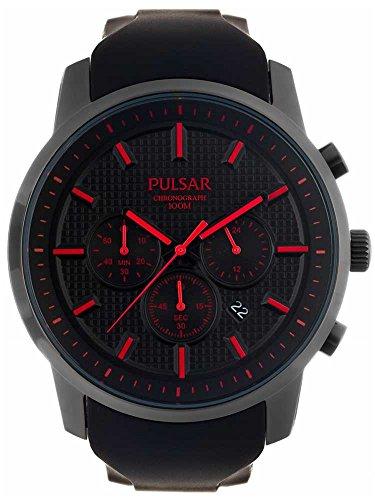 Pulsar Uhren Herren-Armbanduhr XL Modern Chronograph Quarz Kautschuk PT3195X1