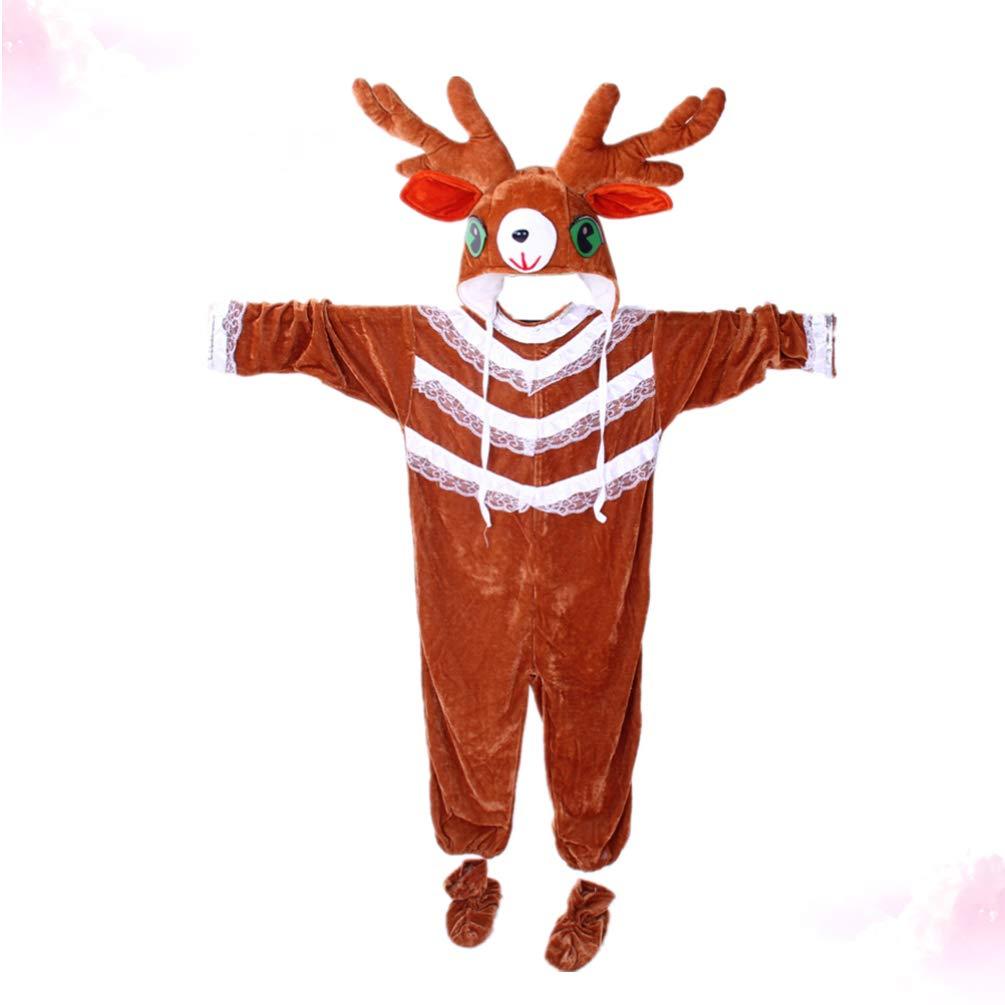 Toyvian Disfraz de Disfraz de Reno de Felpa para niños Disfraz de ...