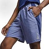 Nike Mens Dri-FIT Challenger 9 Running Shorts (Blue Void/HTR/Mtllc Slvr/Medium)