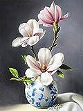 5D DIY diamante pintura orquídea imagen de diamantes de imitación flor diamante bordado jarrón punto de cruz recién llegado decoración del hogar A8 50x70cm